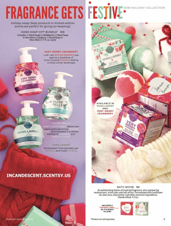 SCENTSY HOLIDAY 2018 BROCHURE 4   NEW! VERY MERRY CRANBERRY SCENTSY BATH BOMB   Shop Scentsy   Incandescent.Scentsy.us