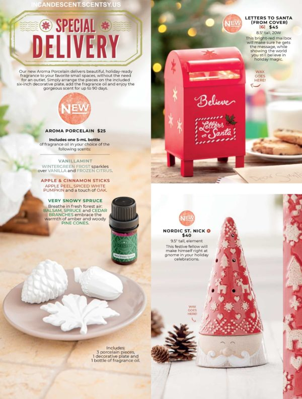 SCENTSY HOLIDAY 2019 COLLECTION PAGE 1