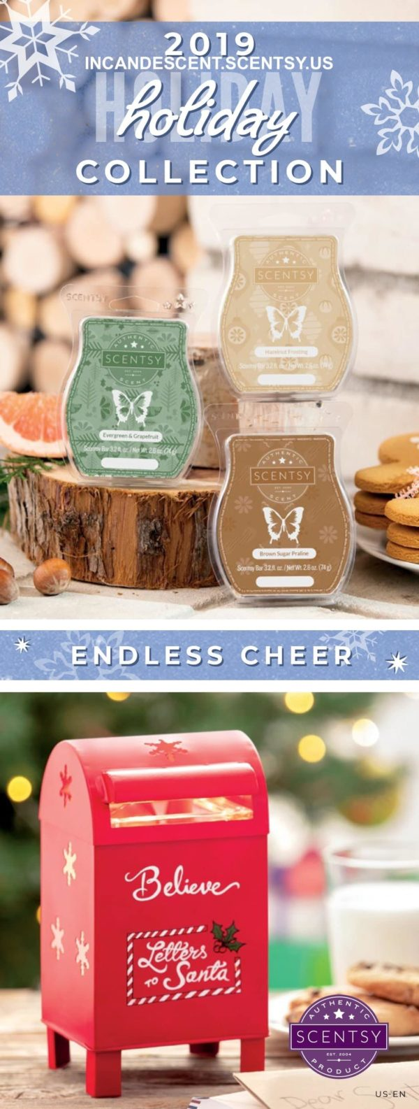 SCENTSY HOLIDAY 2019 COLLETION COVER   FROSTED FLANNEL MINI SCENTSY WARMER   BUFFALO CHECK   Shop Scentsy   Incandescent.Scentsy.us