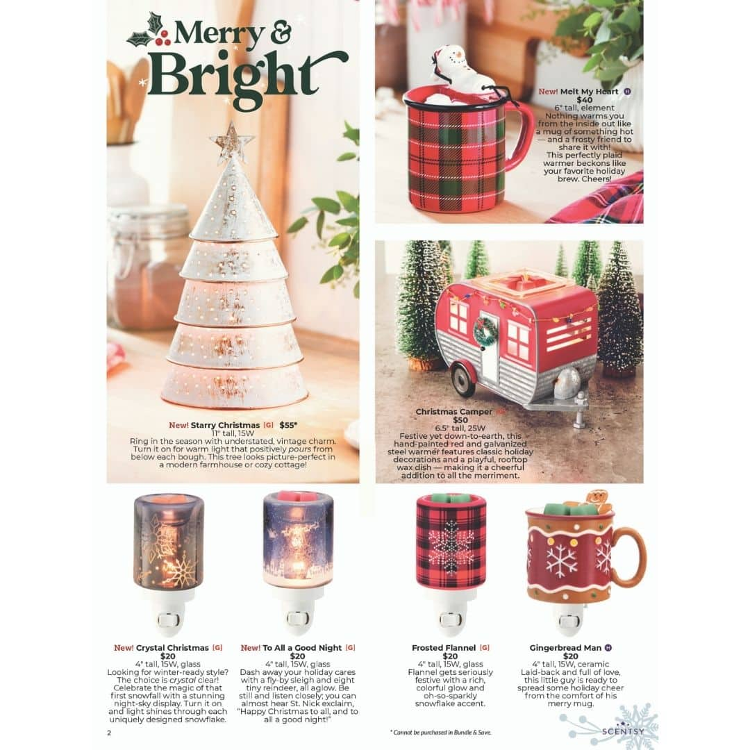 Crystal Christmas Mini Scentsy Warmer Holiday 2020 Incandescent Scentsy Us