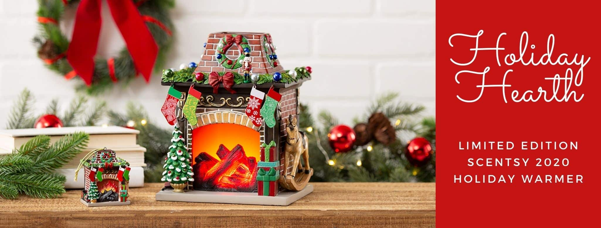 SCENTSY HOLIDAY HEARTH WARMER 2020 LIMITED EDITION
