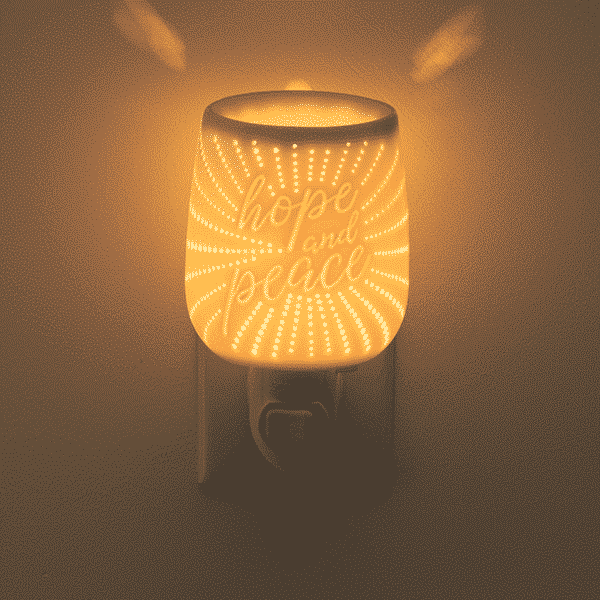 SCENTSY HOPE AND PEACE GLOW WARMER | NEW! HOPE AND PEACE MINI SCENTSY WARMER | EASTER 2021 | Incandescent.Scentsy.us