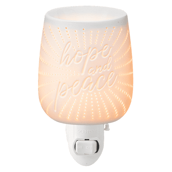 SCENTSY HOPE PEACE GLOW MINI WARMER