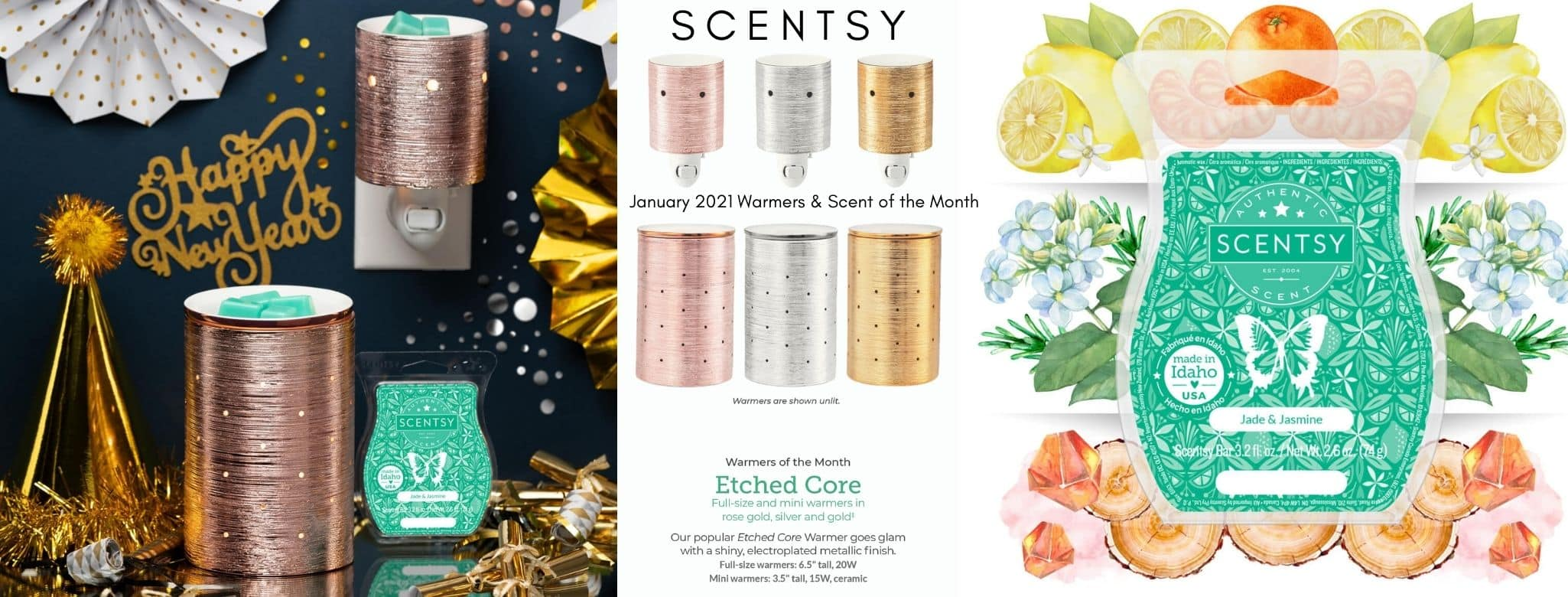 SCENTSY JANUARY 2021 WARMER SCENT OF THE MONTH