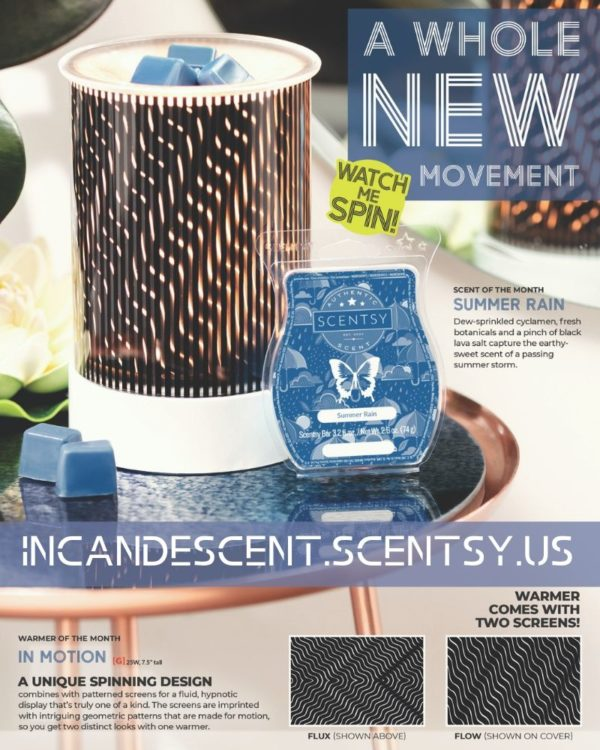 SCENTSY JULY 2019 WARMER OF THE MONTH IN MOTION