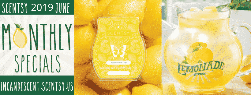 SCENTSY JUNE 2019 WARMER & SCENT OF THE MONTH LEMONADE PITCHER