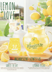 SCENTSY LEMONADE PITCHER JUNE 2019 WARMER & SCENT OF THE MONTH