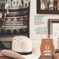 SCENTSY MAY 2019 WARMER & SCENT OF THE MONTH - COUNTRY BORN COWBOY HAT SCENTSY WARMER & SADDLE UP