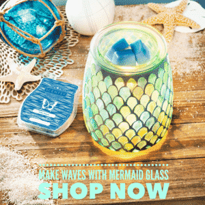 SCENTSY MERMAID GLASS MARCH 2019 SPECIAL