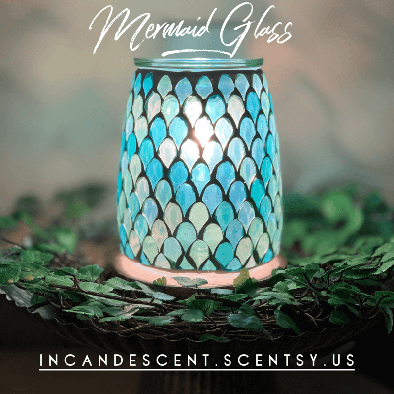 SCENTSY MERMAID GLASS WARMER
