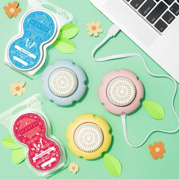 SCENTSY MINI FANS AND PODS | NEW! BERRY BRIGHT SCENTSY PODS | EASTER 2021 | Incandescent.Scentsy.us