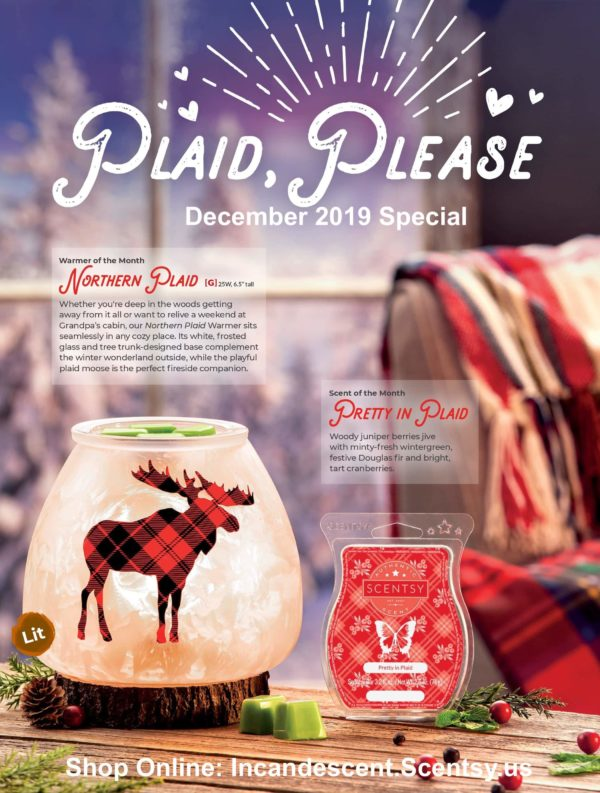 SCENTSY NORTHERN PLAID - DECEMBER 2019 MONTHL SPECIAL