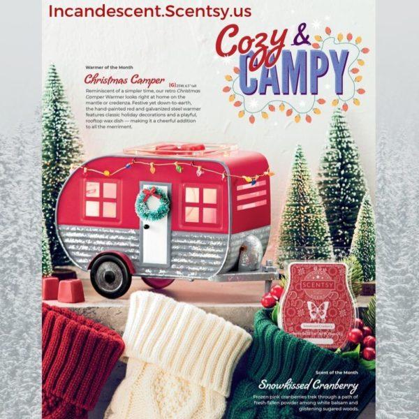 SCENTSY NOVEMBER 2019 SPECIALS - CHRISTMAS CAMPER RV SCENTSY WARMER | Christmas Camper RV Scentsy Warmer
