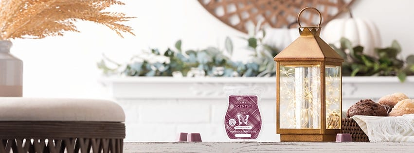 SCENTSY OCT 2020 WARMER OF THE MONTH GLIMMER GLOW LANTERN