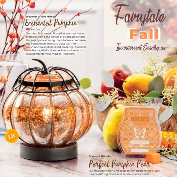 SCENTSY OCTOBER 2019 WARMER & SCENT OF THE MONTH-min | Perfect Pumpkin Pear Scentsy Bar | Shop Scentsy | Incandescent.Scentsy.us