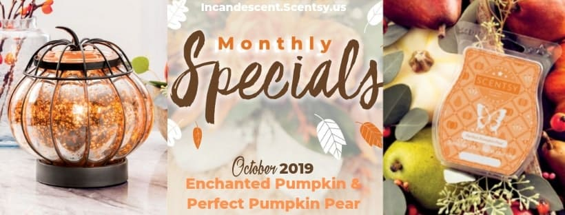 SCENTSY OCTOBER 2019 WARMER & SCENT OF THE MONTH