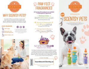 SCENTSY PETS BROCHURE PAGE 1