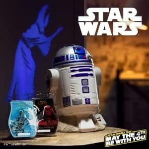 SCENTSY R2 D2 WARMER AND STAR WARS SCENTSY