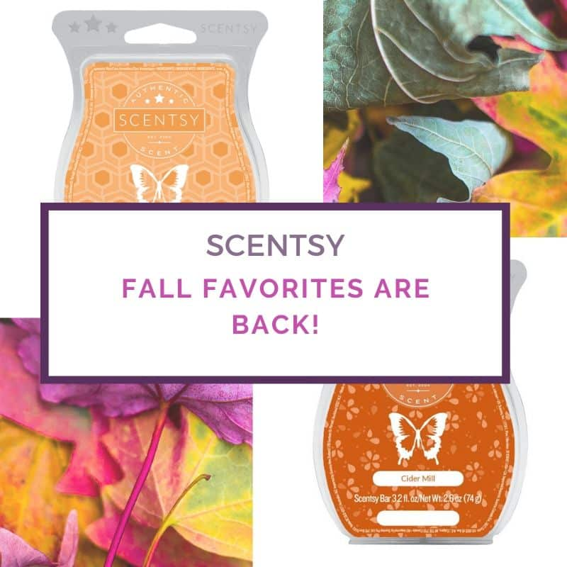 SCENTSY RETURNING FALL SCENTS