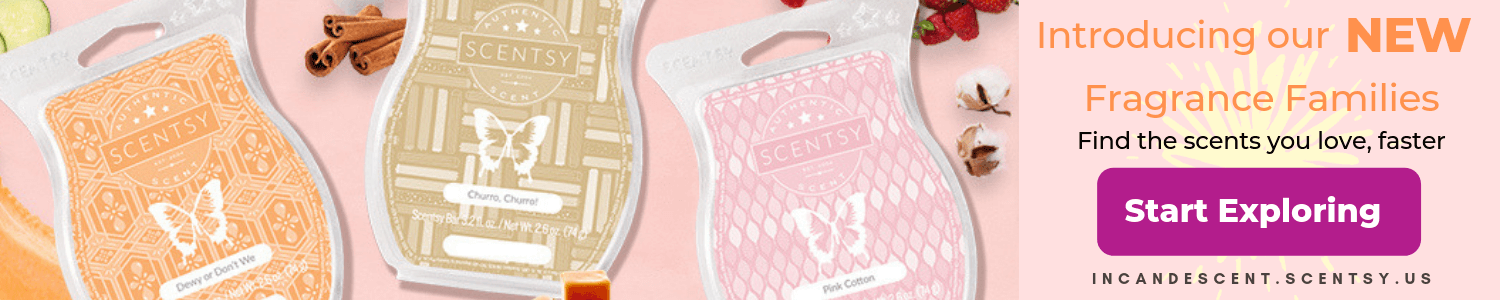 SCENTSY WAX BAR AND SCENT FAMILIES FRAGRANCES