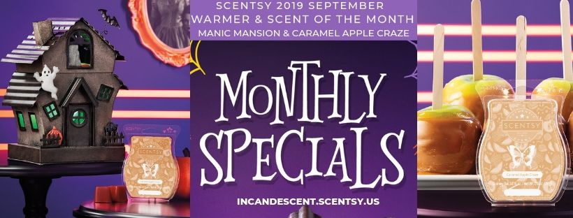 SCENTSY SEPTEMBER WARMER OF THE MONTH MANIC MANSION