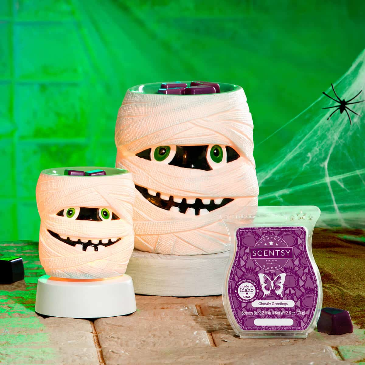 SCENTSY SEPTEMBER 2020 WARMER & SCENT OF THE MONTH – UNDER WRAPS MUMMY SCENTSY WARMERS & GHOSTLY GREETINGS