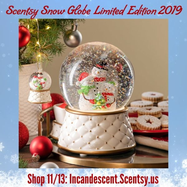 SCENTSY SNOW GLOBE LIMITED EDITION WARMER HOLIDAY 2019