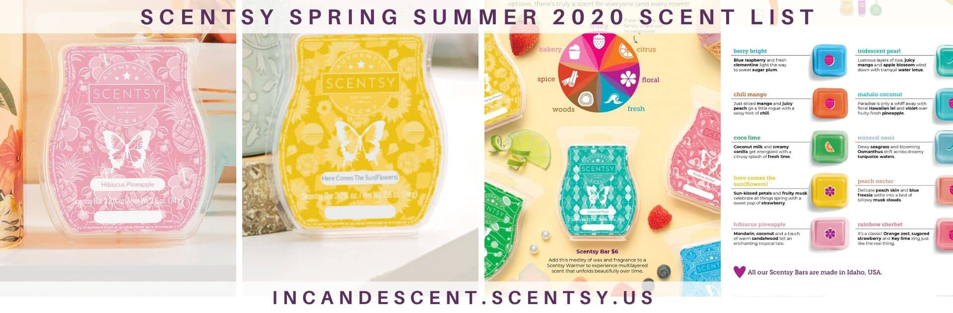 SCENTSY SPRING SUMMER 2020 CATALOG SCENT LIST