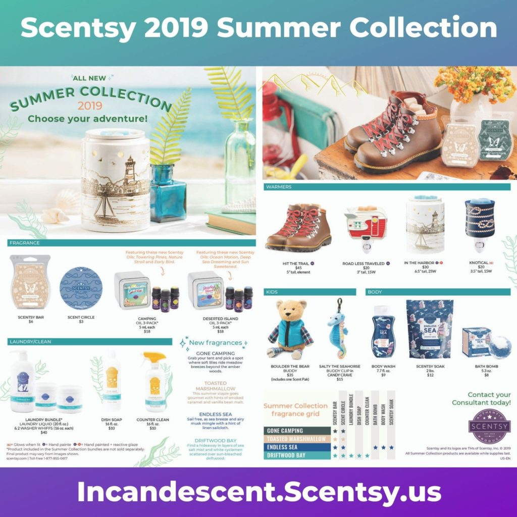 SCENTSY SUMMER 2019 COLLECTION BROCHURE