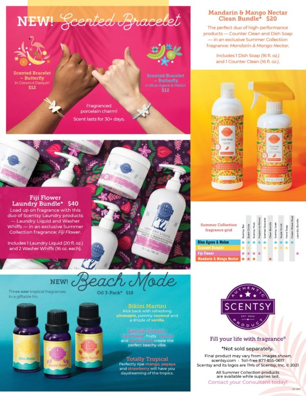 SCENTSY SUMMER COLLECTION 2021 PAGE 2 | Mandarin & Mango Nectar Scentsy Clean Bundle | Summer 2021