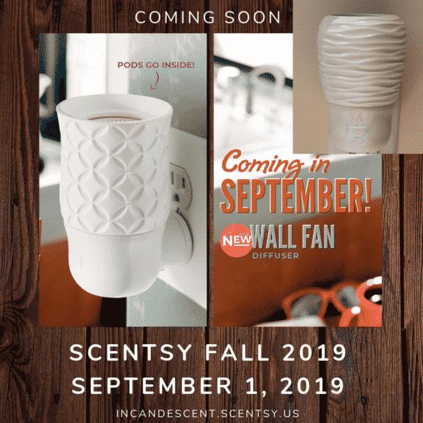 SCENTSY WALL FAN DIFFUSER   FALL 2019