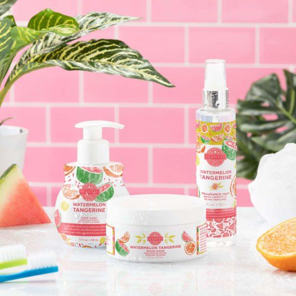 SCENTSY WATERMELON TANGERINE BODY   Watermelon Tangerine Scentsy Bath Soak