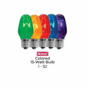 SCENTSY15W COLORED LIGHT BULBS