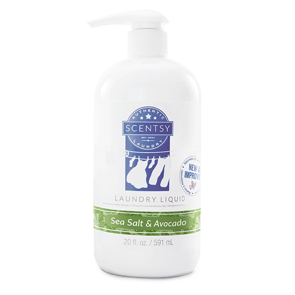 SEA SALT & AVOCADO SCENTSY LAUNDRY LIQUID