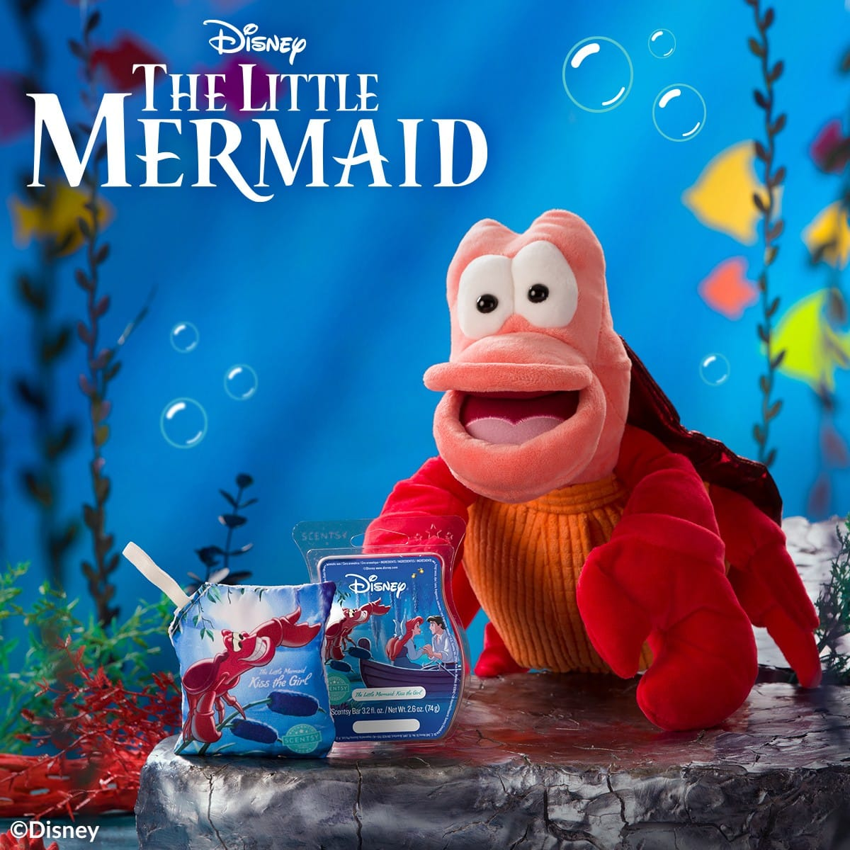 NEW! The Little Mermaid Scentsy Collection | Sebastian Scentsy Buddy | Preorder Now