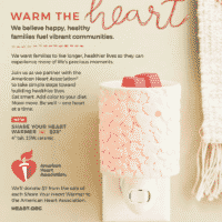 "Let's ""GO RED"" - Scentsy Share your Heart Warmer"