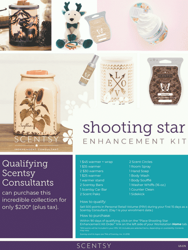 SHOOTING STAR ENCHANCEMENT KIT SCENTSY FALL 2018 (1) | SCENTSY FALL 2018 SHOOTING STAR ENCHANCEMENT KIT