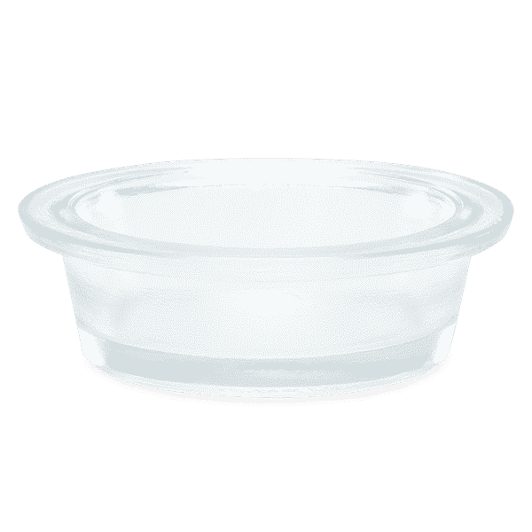 SMALL CLEAR GLASS SCENTSY REPLACEMENT DISH