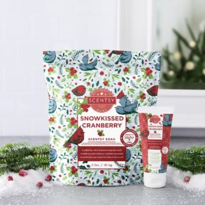 SNOWKISSED CRANBERRY SCENTSY BODY BUNDLE HOLIDAY