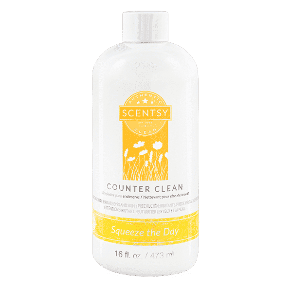 SQUEEZE THE DAY SCENTSY COUNTER CLEAN WITHOUT NOZZLE