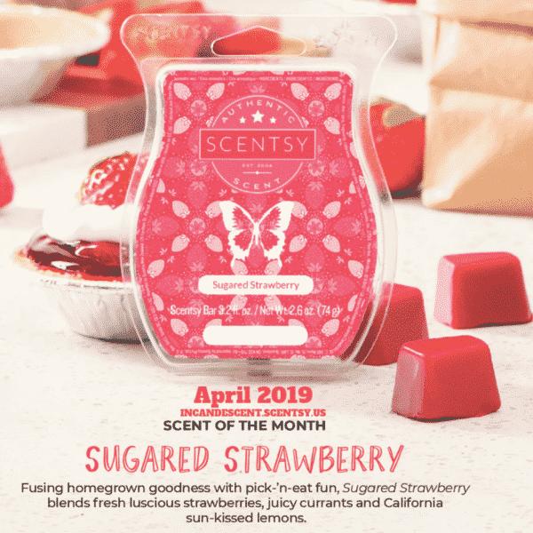 SUGARED STRAWBERRY SCENTSY FRAGRANCE | Sugared Strawberry Scentsy Bar