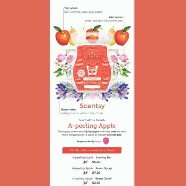 Scentsy A-Peeling Apple Fragrance | A-Peeling Apple Scentsy Bar