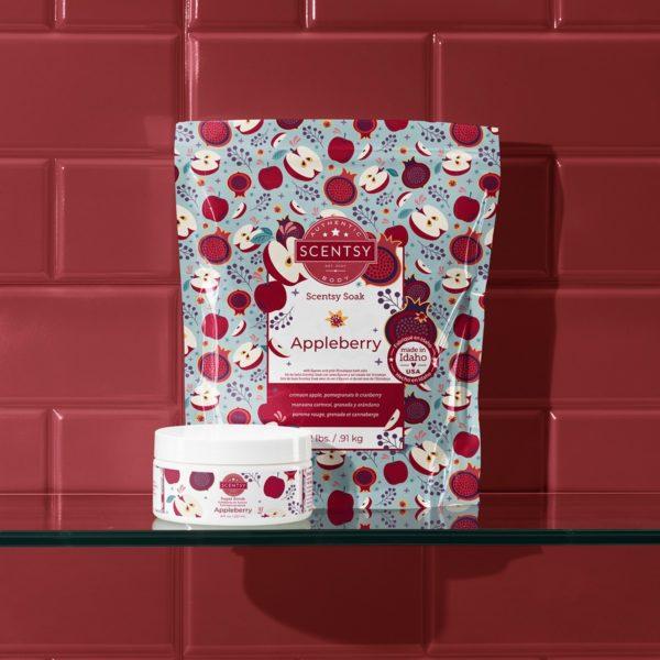 Scentsy Appleberry Body Care 20212 | NEW! Appleberry Scentsy Bath Soak | Incandescent.Scentsy.us