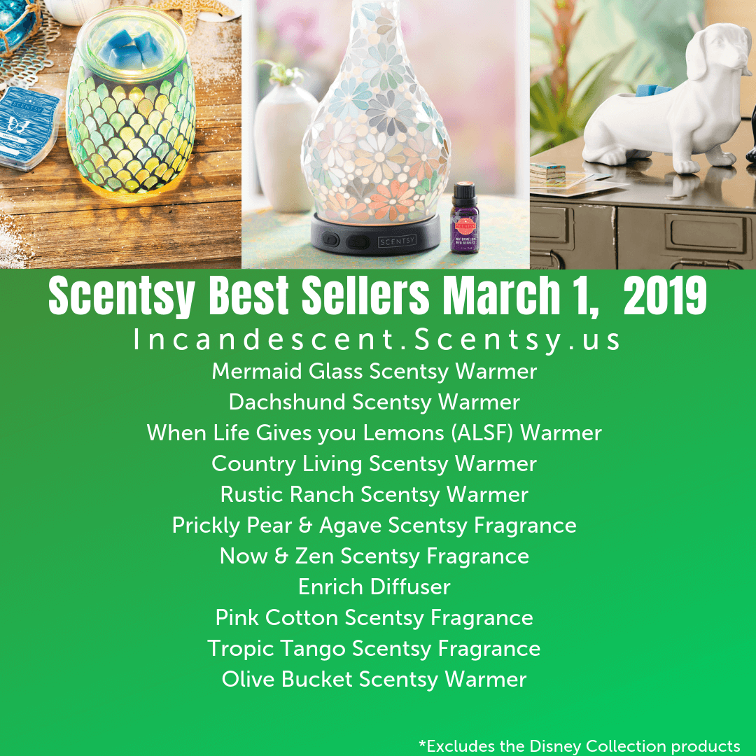 Scentsy Best Sellers March 2019 Incandescent.Scentsy.us | SCENTSY MOTHER'S DAY BUNDLES 2019
