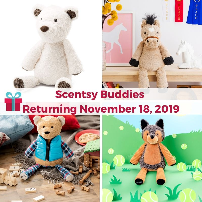 SCENTSY BUDDIES RETURNING NOVEMBER 18, 2019