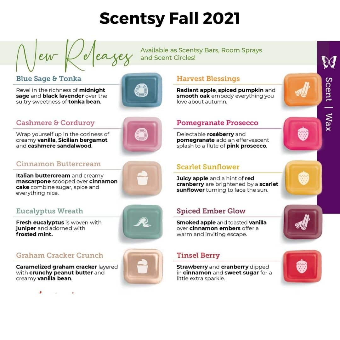 Scentsy Fall 2021 New Releases