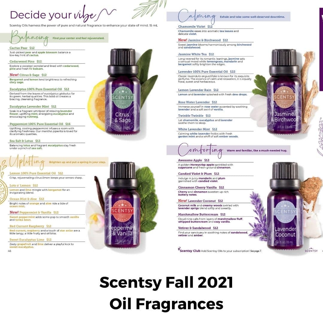 Scentsy Fall 2021 Oils