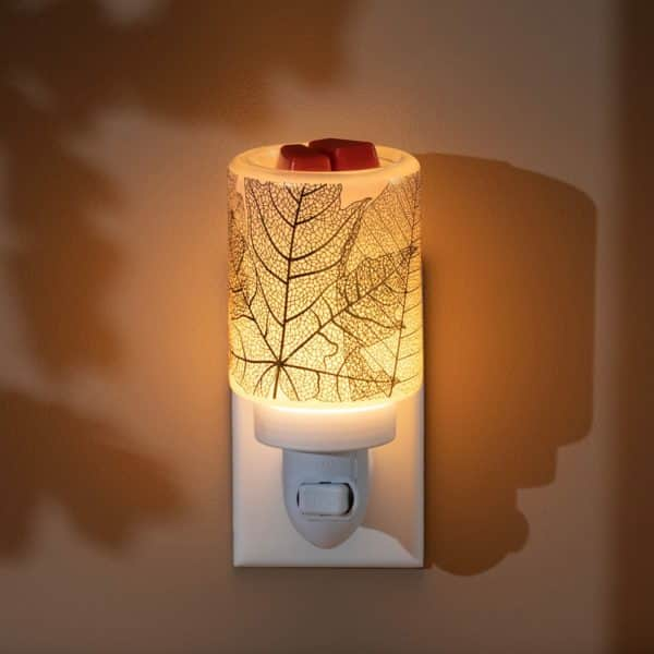 Scentsy Gilded Leaves Mini Warmer2 | NEW! Gilded Leaves Mini Scentsy Warmer | Incandescent.Scentsy.us