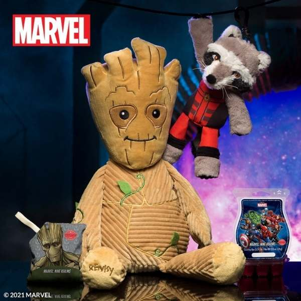 Scentsy Groot Buddy Rocket Clip | Groot & Rocket All in One Scentsy Bundle | Marvel - Scentsy Collection
