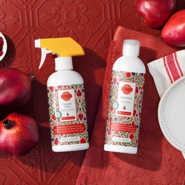 Scentsy Harvest Clean Red Pear Pomegrante2 | NEW! Red Pear & Pomegranate Scentsy Clean Bundle | Incandescent.Scentsy.us